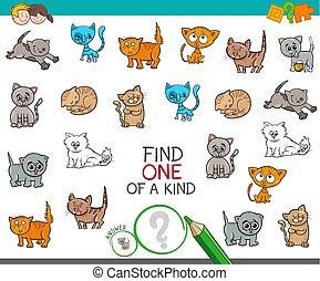 tipo, gato, achar, caráteres, um