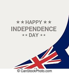 tipográfico, bandeira, vetorial, desenho, anguilla, dia, independência