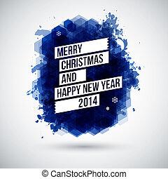 tipográfico, headline., feliz, alegre, nuevo, navidad, año