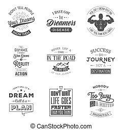 tipográfico, jogo, motivação, quotes., vindima