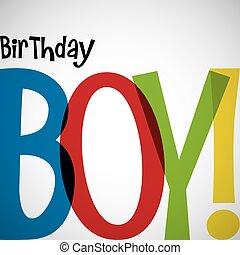tipográfico, tarjeta de cumpleaños, en, vector, format.