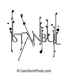 tipografía, estambul, creativo