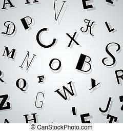tipografía, plano de fondo, seamless