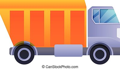 Tipper icon, cartoon style - Tipper icon. Cartoon of tipper ...