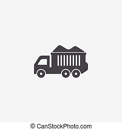 tipper icon, isolated, white background