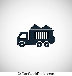 tipper icon on white background.