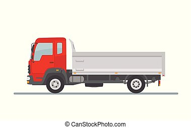Tipper truck isolated on white background.