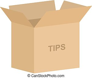Tipping Box Vector - Open cardboard box vector for tipping ...