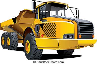 tippvagn, gul