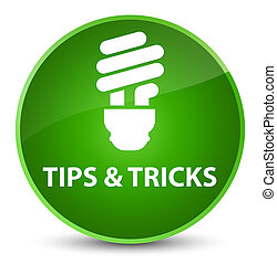 Tips and tricks (bulb icon) elegant green round button