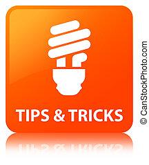 Tips and tricks (bulb icon) orange square button