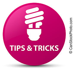Tips and tricks (bulb icon) pink round button