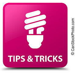 Tips and tricks (bulb icon) pink square button