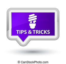 Tips and tricks (bulb icon) prime purple banner button