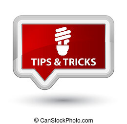 Tips and tricks (bulb icon) prime red banner button