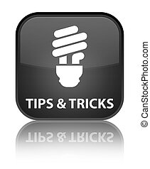 Tips and tricks (bulb icon) special black square button
