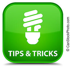 Tips and tricks (bulb icon) special green square button
