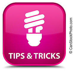 Tips and tricks (bulb icon) special pink square button