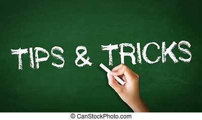 Tips and Tricks Chalk Illustration - A person drawing and...