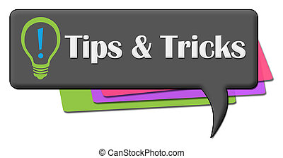 Tips And Tricks Dark Colorful Comment Symbol - Tips and ...