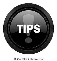 tips black icon