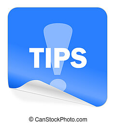 tips blue sticker icon