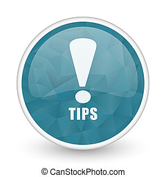 Tips brillant crystal design round blue web icon.