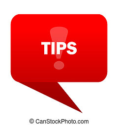 tips bubble red icon