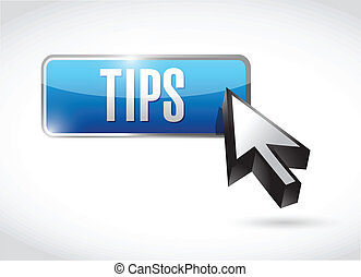 tips button illustration design over a white background