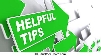 tips., concept., behulpzaam, zakelijk