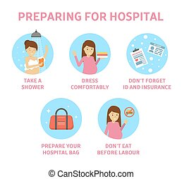 Tips for expectant mother how to prepare for hospital.