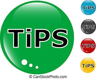 tips, glas, knoop, pictogram