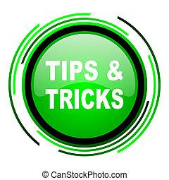 tips green circle glossy icon