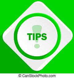 tips green flat icon