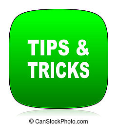 tips, groene, trucs, pictogram