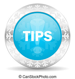 tips icon, christmas button