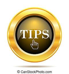 Tips icon. Internet button on white background.