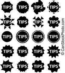 Tips Icon Vector Illustration