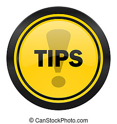 tips icon, yellow logo,