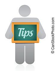 tips message illustration design