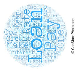 Tips On How Not To Get A Loan text background wordcloud concept