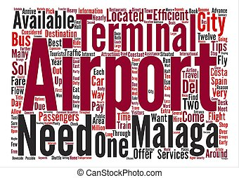 Tips On Malaga Airport text background word cloud concept