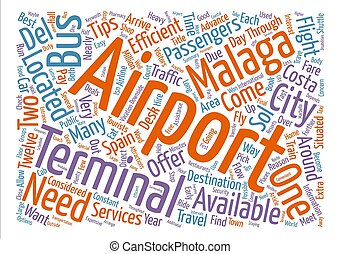 Tips On Malaga Airport Word Cloud Concept Text Background