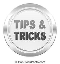 tips, pictogram, trucs, metalen