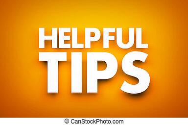 tips., provechoso, ilustración, 3d
