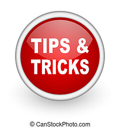 tips red circle web icon on white background