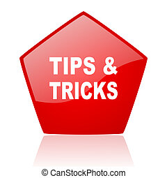 tips red web glossy icon