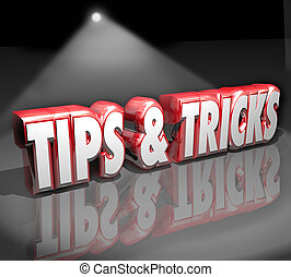 Tips Tricks 3d Words Spotlight Helpful How to Information...