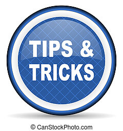 tips tricks blue icon