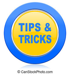 tips tricks blue yellow icon